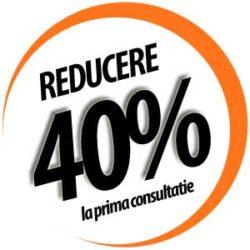Reducere 40% la prima consultatie